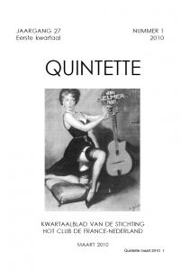 Quintette 2010 eerste kwartaal, jaargang 27 nr 1
