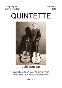 Quintette 2013 eerste kwartaal, jaargang 30 nr 1