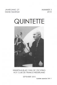 Quintette 2010 derde kwartaal, jaargang 27 nr 3