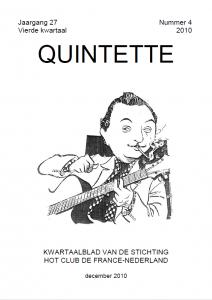 Quintette 2010 vierde kwartaal, jaargang 27 nr 4