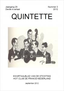 Quintette 2012 derde kwartaal, jaargang 29 nr 3