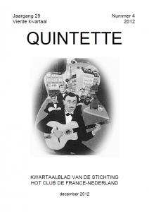 Quintette 2012 vierde kwartaal, jaargang 29 nr 4