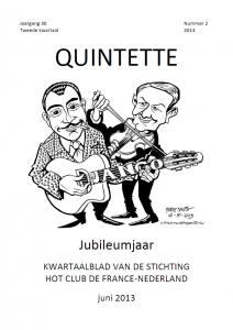 Quintette 2013 tweede kwartaal, jaargang 30 nr 2